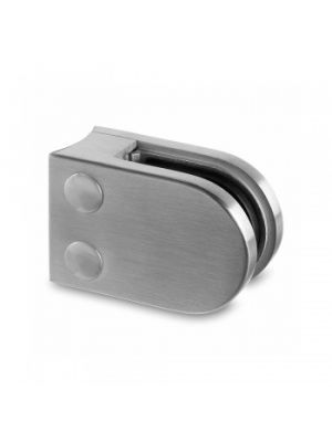 Glass Clamp, 8mm D Shaped Glass Clamp, Radius Mount, Style MOD 22