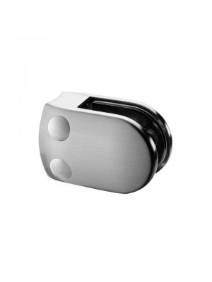 10.76mm Laminated D Shaped Glass Clamps, Radius Mount, Style MOD 28