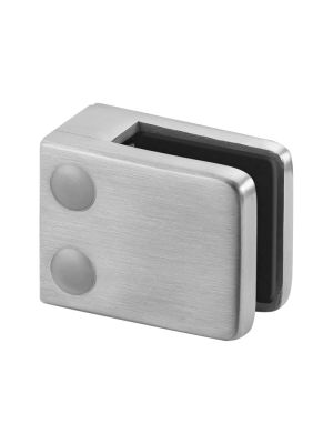 10mm Square Glass Clamp, Flat Mount, Style MOD 42