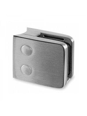 11.52mm Laminated Square Glass Clamp - Radius Mount - Mod 26