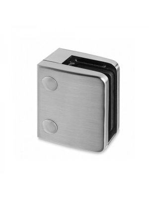 12.76mm Laminated Square Glass Clamp, Flat Mount, Style MOD 24