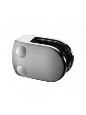 8mm D Shaped Glass Clamp, Radius Mount, Style MOD 28