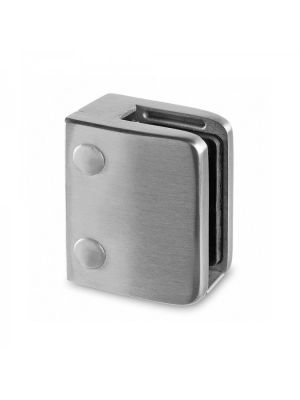 12mm Square Glass Clamp, Flat Mount, Style MOD 24