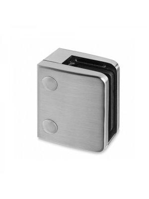 16.76mm Laminated Square Glass Clamp - Radius Mount - Mod 24