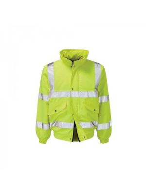 Arco Valiant Hi-Vis Bomber Jacket Yellow