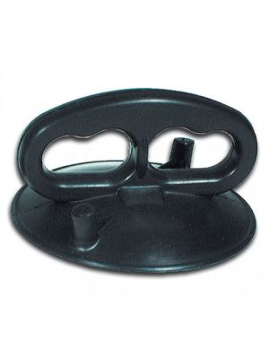 Suction Lifter, All-Rubber with Two Finger Holes