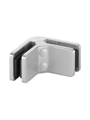 Glass Connector Clamp for 6mm Glass,90 Degree, Square Corner Glass Connector, Mod 42