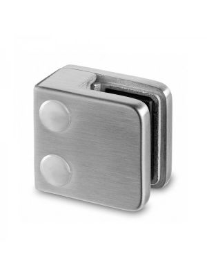 6mm Square Glass Clamp - Flat Mount - Mod 21
