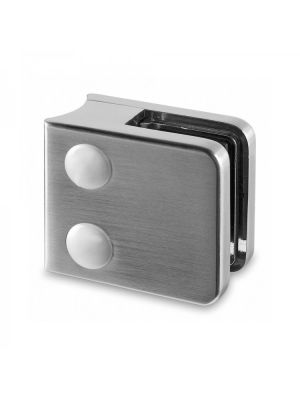6mm Square Glass Clamp - Radius Mount - Mod 21
