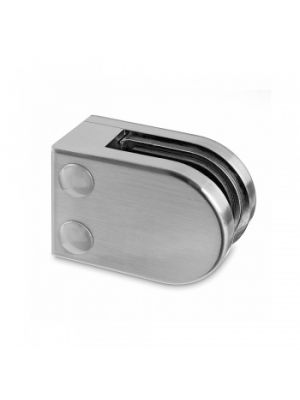 8mm D Shaped Glass Clamp - Flat Mount - Mod 22