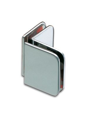 Granada Shower Door Corner Clamp - Chrome Plated