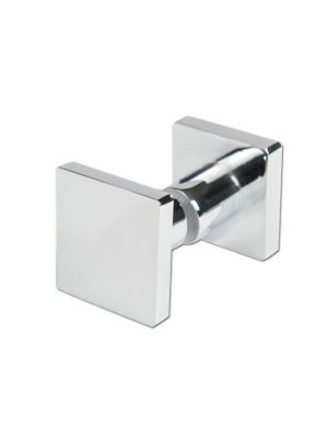 50mm Square Shower Door Handle Double Sided - Stainless Steel