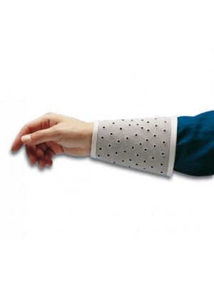 Wrist Protector Sleeves, Chrome Split Leather Perforated