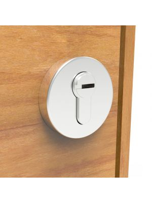 Round Key Escutcheon / Key Lock Cover Satin Stainless Steel