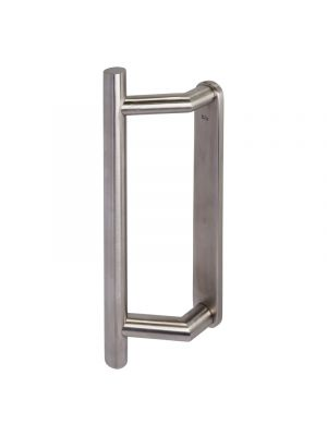 Straight Slide Patio Door Handle Solid Backplate