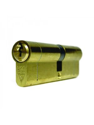 High Security Euro Double Cylinder Door Lock - Brass