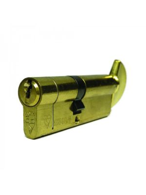 Maximum Security Euro Thumbturn Cylinder - Brass