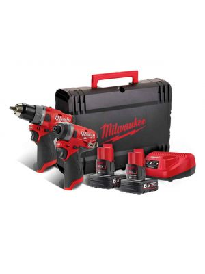 Milwaukee M12 Fuel Percussion Drill and Impact Driver