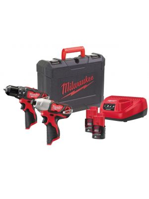 M12 Combi and Impact Driver Pack