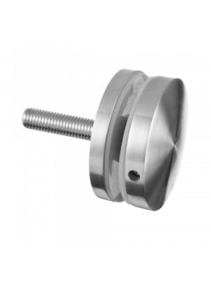 Long Round Glass Clamp, Flat Mount For Glass Up