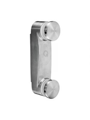 Adjustable Glass Adapter with Base Plate - Round Profile - 8mm to 17.52mm