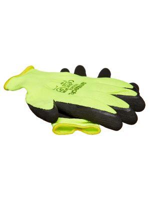 Hi-Vis Latex Coated Gloves Medium (Size 8)