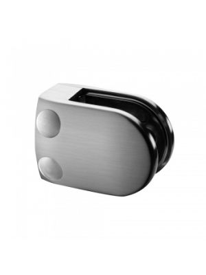 6mm D Shaped Glass Clamp, Flat Mount, Style MOD 28
