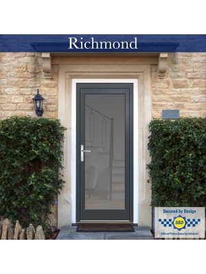 Aluminium Front Door, PAS24 Tested, Clear Glass