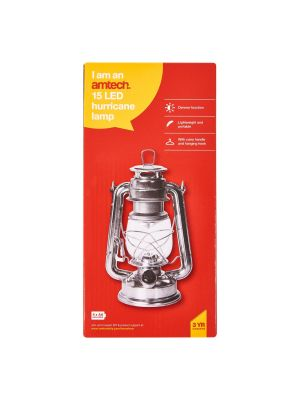 15 LED Hurricane Lamp (Silver)