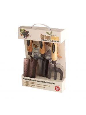 Elements Trowel, Weed Fork and Transplanting Trowel Set
