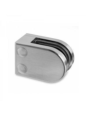 6mm D Shaped Glass Clamp - Flat Mount - Mod 22