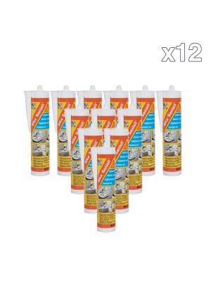 Box Of 12 Sika Sanisil Sanitary Sealant