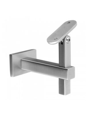 Square Adjustable Handrail Bracket - Wall Fix Plate to Flat Mount