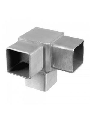 Square Flush 90° 3 Way Tube Connector