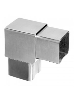 90° Vertical Square Handrail Connector - Grade 304 & 316