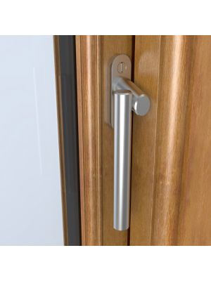 Angled Window Espagnolette Handle - Marine Grade Stainless Steel