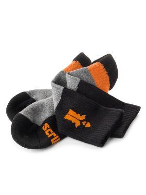 Scruffs Trade Socks- 3 Pack  ( 7-9.5)  Black and Grey