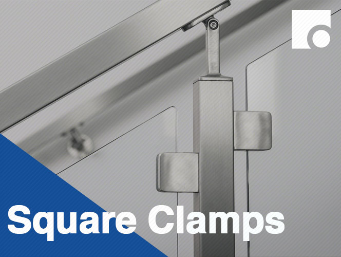 Square Glass Clamps