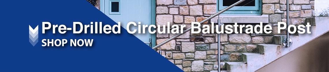 Pre-Drilled Circular Balustrade Post