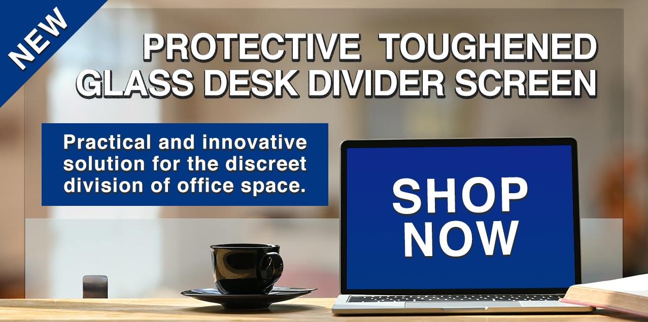 Toughened Glass Desk Divider